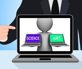 Science Art Laptops Displays Scientific Or Artistic