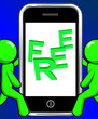 Free On Phone Displays Freebie Gratis and Promotion
