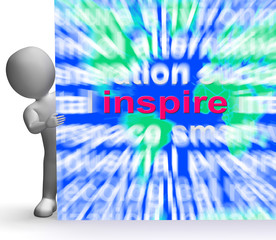 Inspiration Word Cloud Sign Shows Motivation And Encouragement