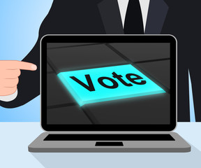 Vote Button Displays Options Voting Or Choice