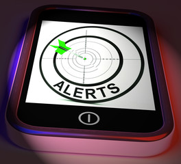 Alerts Smartphone Displays Phone Reminder Or Alarm