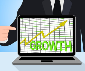 Growth Graph Chart Displays Increase Sales Profit