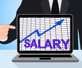 Salary Chart Graph Displays Increase Earn Cash Wealth Revenue