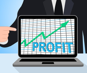 Profit Chart Graph Displays Increase Cash Wealth Revenue