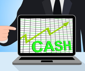 Cash Chart Graph Displays Increase Wealth Money Currency