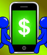 canvas print picture - Dollar Sign On Phone Displays $ Currency