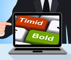 Timid Bold Computer Show Shy Or Outspoken