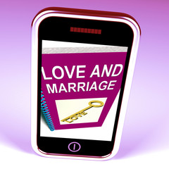 Love and Marriage Phone Represents Keys and Advice for Couples