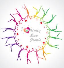 Rainbow Circle. Unity. Love. People.