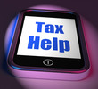 Tax Help On Phone Displays Taxation Advice Online