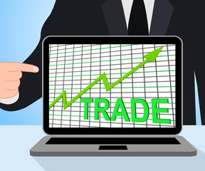 Trade Chart Graph Displays Increasing Trade Or Trading