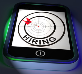 Hiring Smartphone Displays Online Recruitment For Job Position