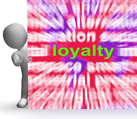 Loyalty Word Cloud Sign Shows Customer Trust Allegiance And Devo