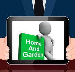 Home And Garden Book With Character Displays Household And Garde