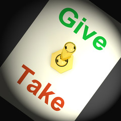 Give Take Switch Means Offering And Receiving