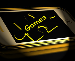 Games Smartphone Displays Internet Gaming And Entertainment