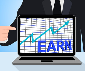 Earn Graph Chart Displays Increase Earnings Growing