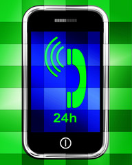Twenty Four Hour On Phone Displays Open 24h
