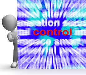 Control Word Map Sign Shows Command Power Authority