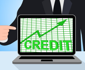 Credit Graph Chart Displays Buy Increase Grow Debt