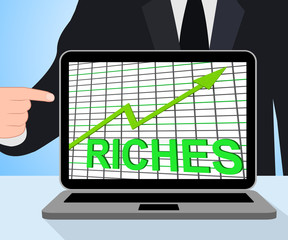 Riches Chart Graph Displays Increase Cash Wealth Revenue