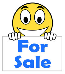 For Sale On Sign Means Purchasable Available To Buy Or On Offer