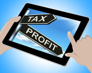 Tax Profit Tablet Means Taxation Of Earnings