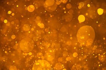 golden shiny bokeh background