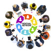 Diverse People and Social Networking Concepts