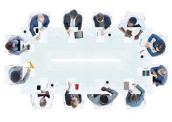Group of Business People Having a Meeting