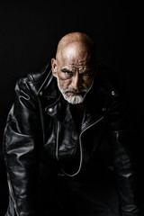 Tough guy in Leather