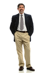 Hispanic Businessman Standing