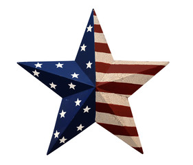 Ornament With Stars and Stripes