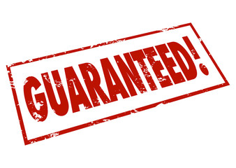 Guaranteed Word Red Ink Stamp Promise Certainty
