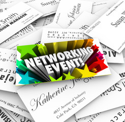 Networking Event Business Cards Mixer Contacts Meeting