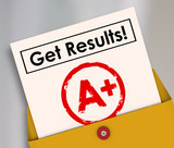 Fototapety Get Results Report Card Student Letter Grade A+