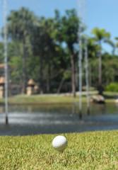Golf Ball and lake