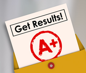 Get Results Report Card Student Letter Grade A+