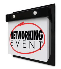 Networking Event Wall Calendar Words Reminder Business Meeting