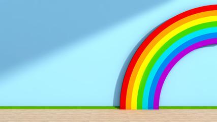 Playroom with rainbow
