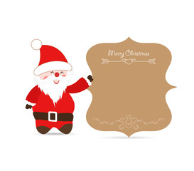 Santa claus greeting card retro