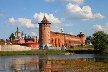 The powerful walls of the Kremlin. Kolomna. Russia