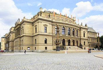 Rudolfinum - Philharmonic and Gallery in Prague.