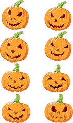 Set of Halloween pumpkin