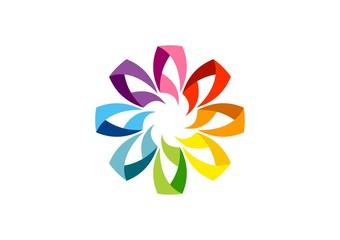 globe,floral,circle,logo,geometry,flower,element,media