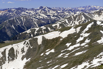Melting Snow in the Rocky Mountains, Colorado