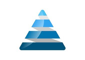 Triangle,corporate,logo,business,pyramid,finance,build