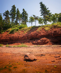 Red shore of Prince Edward Island