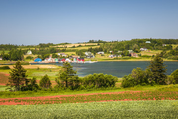 Landscape with bay in Prince Edward Island Canada