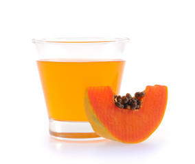 papaya juice glass.